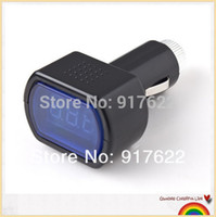 Wholesale 5pcs LED Display Cigarette Lighter Electric Voltage Meter For Auto Car Battery