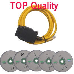 Wholesale 2014 Top Quality Ethernet to OBD Interface Cable E SYS ICOM Coding for ENET OBDII With V50 Software