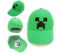 Wholesale 2014 NEW Fashion kids Cotton Minecraft hat MC Creeper JJ sun hat Cartoon minecraft Game Party gift souvenirs