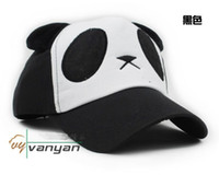 Wholesale Cartoon panda spring and summer female lovers baseball cap sunbonnet parent child hat Lovely Panda Adjustable Hat