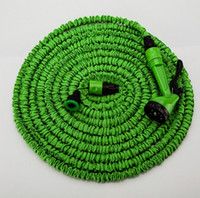 Hoses & Hose Reels   DHL Free Shipping 25FT 50FT 75FT 100FT HOSE Expandable & Flexible Water Garden Hose Hose Flexible Water Hose Blue Green + FREE Spray Nozzle