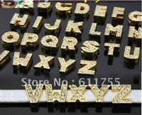 acryle bangle - set Gold Color DIY Slide lettrs MM Fit Wristband D007 and Pet Collor New acryle bangle