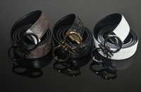Wholesale Buckle Belt circle Cow leather Exclusive Fashion design Golden Silver Buckle Belts for Men