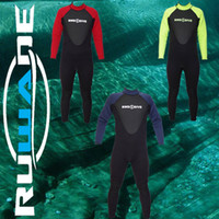 Wholesale RUWADE mm full wetsuits diving suits long sleeve long leg surfing suits