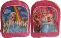Wholesale Frozen Backpacks Snow Queen Nylon Canvas School bag Elsa Anna cartoon pattern bags