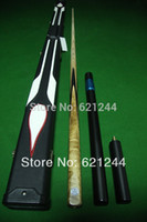 Ash Wood pool cues - One Piece Handmade Splices Ash Shaft Snooker Cue Pool Cue with Free Cue Case Mini Butt Longer Extension