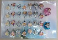 Cheap Hot Sales 2 Box 60 Pcs lot Fashion Finger Ring Children's Cartoon Frozen Ring Mix colors
