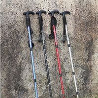 """Cheap 20pcs lot Adjustable AntiShock Trekking Hiking Walking Stick Pole 66cm-135cm 26 """" to 53 """" with Compass Z042"""