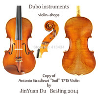 Wholesale Copy Antonio Stradivari quot Soil quot Violin M7031 quot All European Wood quot One Pc Back