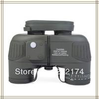 10x50 Rangefinder Binoculars Rangefinder - Tactical x50 Navy Binoculars with Rangefinder and Compass Reticle Illuminant