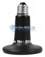 Wholesale New Black W V Ceramic Heat Lamp Bulb Reptile Pet Amphibian Poultry Bulb Pet Heat Light B16 TK0989