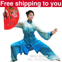 Wholesale Customize Tai chi clothing Martial arts performance Morning exercise narrow waist jimpness gradient women little girl child