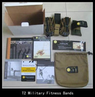 Cheap DHL freeship T2 Military Fitness bands Exercise Rope personal Training kit T1 Fitness belts straps Freeshipping