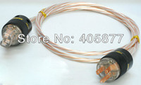 Cheap Hi-End Telfon Silver Plated Audio Power cable For Tube amplifier CD Player 1M