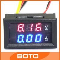 Wholesale 20 DC YB27 VA V V V Volt Amp Meter in1 Digital Voltmeter and Digital Ammeter LED Tester Blue Red V A