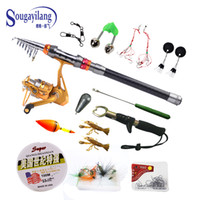 Cheap Sale ! Fishing Rod Kit AF5000 Fishing Reel +12 Fishing Accessories +3.6M 8.86FT Carbon Telescopic Fishing Rod