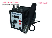 Cheap Free SHipping Scotle 858D+SMD Desoldering Rework Station Hot Air Solder Station 220v Temperature Adjustable The Welding Set
