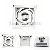 Wholesale New Bathroom Washing Machine Brass Floor Shower Drain Polished Chrome x100mm TL