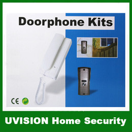 Wholesale Home Security Wire Connection Doorphone Kits With Unlocking Function Talking Distance is Above m