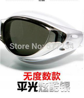 Wholesale 2014 Professional Electroplating Plane Swimming Goggles Color Anti Fog Uv Protected Waterproof Swimming Glasses Free Shiping