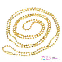 """Cheap Ball Chain Necklaces Gold Plated 80cm(31 4 8"""") long,12PCs (B31373)"""
