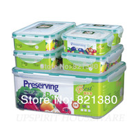 Wholesale Food Box Microwavable Sealed Plastic Container Keep Fresh Storage Box Set Waterproof Airtight Organizer Box