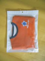 Wholesale 500pcs White translucent BOPP pearl film ziplock retail packages valve bag food for ipad inch case cm