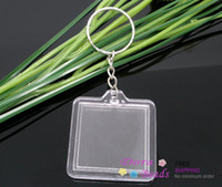 Wholesale 10 Key Chains Key Rings W Transparent Picture Frames B05718