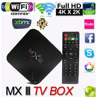 Wholesale 2014 Hot MXIII Amlogic S802 Android TV Box Smart TV Receiver IPTV Media Player GHz Quad Core Android Octa Core GPU K G G XBMC