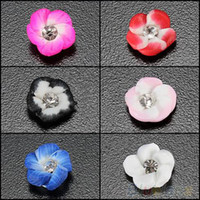 Wholesale 20Pcs DIY Decorations D Ceramic Flower Rhinestones Nail Art Tips Design Color C BC