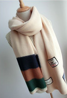Cheap Lovers fashion country flag single soft cashmere yarn scarf autumn and winter thermal muffler scarf