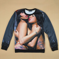 Cheap 2014 new arrive men women's 3D sweater shirts printed naked sexy women novelty sweatshirts pullover hoodie tops
