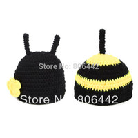 Cheap 2014 New Black Baby Hats Costume Photo Photography Prop Knit Crochet Beanie Hat Animal Cap Sets 18008