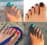 wholesale toe rings - Retro metal twist eight foot ring Knuckle ring Girls V foot ring Summer beach carved jewelry Yoga dance accessories ZL