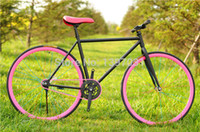 Steel folding electric bicycle - 26inch colourful fixed gear bike road bike mountain bicycle bicicleta Coaster brake of bicycle Special Offer