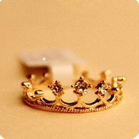 Wholesale Hot new fashion Sunshine jewelry store rhinestone studded crown ring