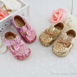 Wholesale Hot Girls Sequins Shoes Bling Prewalker Toddler Iridescent Crystal Bunny Baby Shoes Hight Quality Infant First Walker