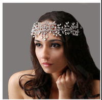 al por mayor tiaras para quinceañeras-Moda cristal nupcial tiara corona de accesorios de pelo para la boda Quinceanera tiaras y coronas joyería cabello
