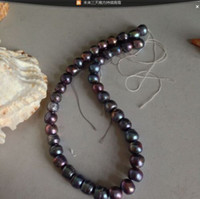 Wholesale stunning mm tahitian multicolor black red green baroque pearl necklace inch