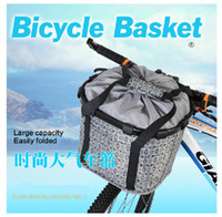 Wholesale ROCKBROS Bike Portable Basket MTB Waterproof Foldable Bag Shopping Basket Handlebar Bar Bag Handbag Front Basket Quick Release