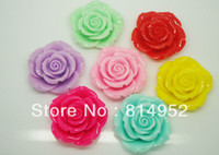 Wholesale Large Big Size mm Chunky Resin Rose Flower Beads with Holes Mixed Color for Chunky Jewelry necklace