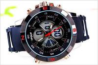 Cheap Design Unique classic Double movement men watch Leisure quartz dual display clock Wristwatches