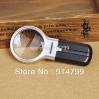 Glasses Yes PUGONGYING Wholesale-2 LED lights 3 in 1 Hand-hold folding desk Magnifier reading magnifying glass Loupe TH-7006