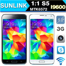 HDC 1:1 S5 MTK6572 I9600 S5 Dual Core 5.0 Inch Android 4.4 512 MB RAM 4GB ROM WCDMA 3G GPS Unlocked Phone Free Flip Cover