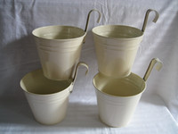 Wholesale Metal Planter garden box Iron pot flower Hanging Planter Round wall planter vintage wall Hanging balcony bonsai