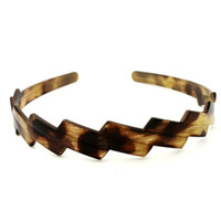 plastic headbands - Brand New clr Casual Wood Pattern Spray paint Curve Plastic Hair Headband Hairband Dress Hair Jewelry Ladies Women Gift H117