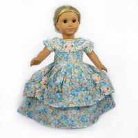 american girl doll - Doll Clothes fits for quot American Girl Dolls Victorian Evening Gown Dress Girl Birthday Present Christmas Gift H01