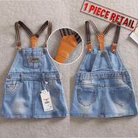Wholesale Summer Piece Retail New Fashion Dresses For Baby Girls Causal Sleeveless Denim Jeans Kids Dress Brand Name TXW TXW8506