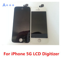 Wholesale Best A DHL Free Replacement LCD Screen Display Touch Panel Digitizer Assembly Full Set for iPhone G Black White Color
