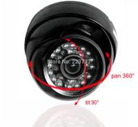 Cheap Free shipping 1 3'' Sony CCD Effio-E 700tvl 24leds IR indoor HD Security CCTV dome camera surveillance camera